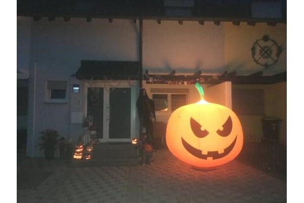 EASY PUMPKIN- Herbstskulptur mit Beleuchtung, für Lichtfeste, Helloween: zum stellen oder hängen - Vermietung und Verkauf möglich hms
