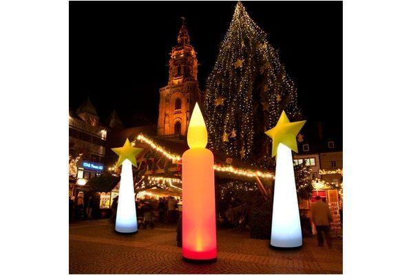 STARCONE easy CANDLE die Leuchtdekoration für Weihnachten, XMAS aufblasbare Dekorationen, HMS