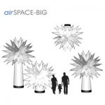 Bemaßung AIRSPACE big (gerader Sockel): Xmas Agentur Rindle Inflatables (c) airlight