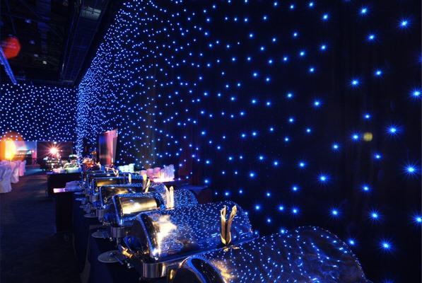Seitenverkleidung LED Sternenhimmel: CHAMELEON zum hängen- Vermietung und Verkauf möglich HMS Agentur Rindle