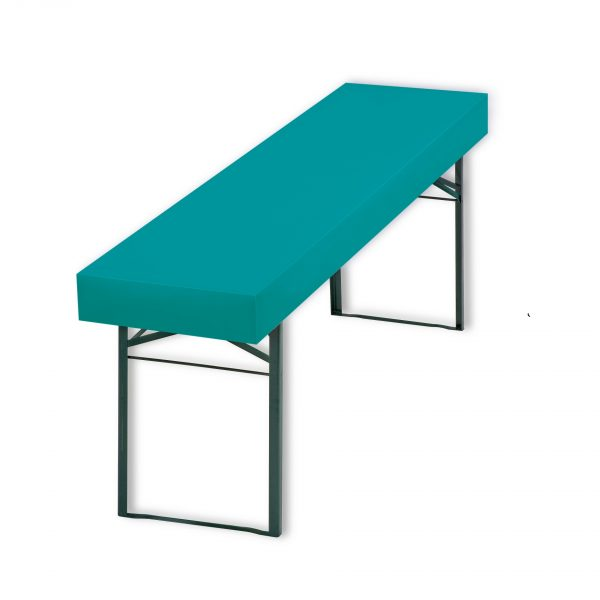 Patide Eventtischdecke Papiertischdecke für Festzelttisch unifarbend azur tuerkis Maße: 220 x 50 cm (Lx B)