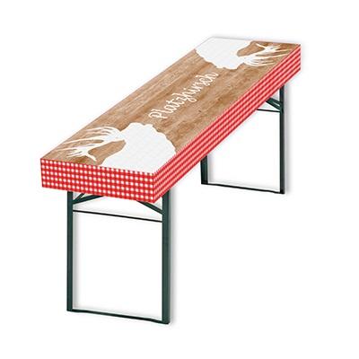 Patide Eventtischdecke Papiertischdecke Holzmaserung für Festzelttisch Platzhirsch, Weihnachten Maße: 220 x 50 cm (Lx B)