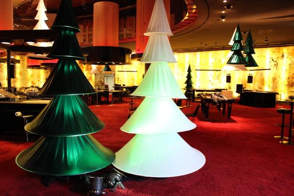 Weihnachtsdekoration Xmas-Tree Tannenbaum aus Stretchstoff, hängend HMS