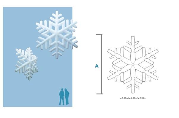 Bemaßung SNOW Schneeflocke XMAS Agentur Rindle Inflatables (c) ADS