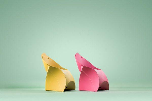 flux CHAIR JUNIOR -Faltbarer Sessel für Kinder aus Kunststoff Mietmobilar LK