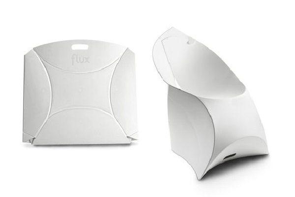 flux CHAIR -Faltbarer Sessel aus Kunststoff , weiss, white, Mietmobilar LK