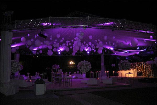 SKYLINER Schirmsystem für Events, Festivals (c) skyliner