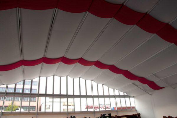 Zelthimmel CLASSIC, Stoffdekoration glatt (Runddach)für Ihr Zelt oder Halle, HMS Agentur Rindle