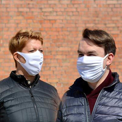 Stretchmaske aus Stretchstoff für Schutz von Mitarbeiter gegen COVID-19/Corona Virus Agentur Rindle hms