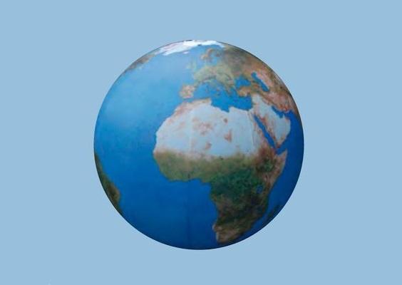 EARTH Planet (hängende Weltkugel) Aufblasbare Leuchtskulpturen mit LED Licht Deckendekoration zur Miete oder Verkauf (c) ADS