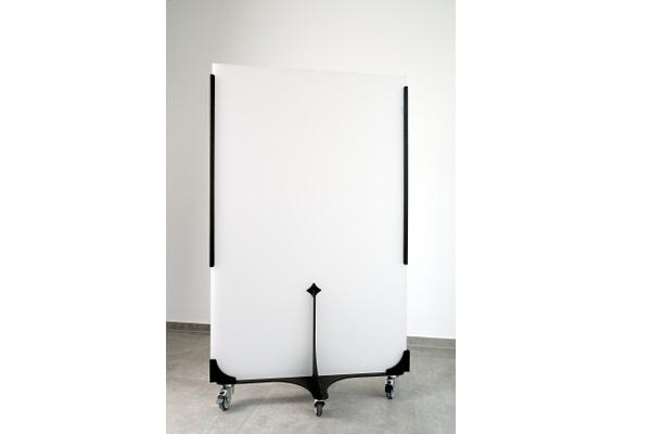 KOBI M Hygieneschutzwand weiss auf Rollen 92x141cm-Miete-Verkauf-Eventdekoration (c) BRO